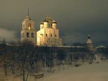Cattedrale di notte Immagini Stock