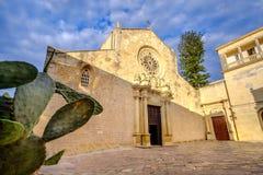Cattedrale di Otranto - fico d'India Puglia - Salento - Italia Immagini Stock