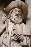 Cattedrale di Oviedo - statua di Saint James il maggior fotografia stock