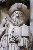 Cattedrale di Oviedo - statua di Saint James il maggior immagine stock