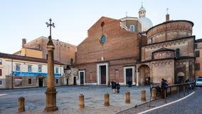 Cattedrale di Padova con il battistero nella città di Padova Immagini Stock