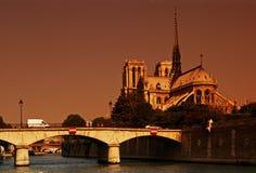 Cattedrale di Parigi Notre Dame Fotografia Stock Libera da Diritti