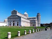 Cattedrale di Pisa e torre di Pisa Fotografie Stock