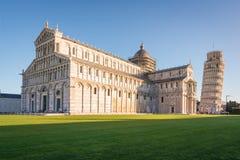 Cattedrale di Pisa e torretta di inclinzione Immagine Stock Libera da Diritti