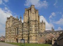 Cattedrale di pozzi, Somerset Fotografia Stock