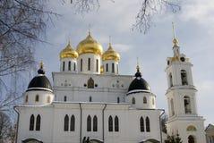 Cattedrale di presupposto Cremlino in Dmitrov, città antica nella regione di Mosca Immagine Stock