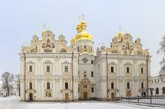 Cattedrale di presupposto di Kyiv Pechersk Lavra immagini stock libere da diritti