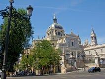 Cattedrale di Real de La Almudena della La di Santa MarÃa, Madrid Immagini Stock