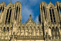 Cattedrale di Reims Immagini Stock Libere da Diritti