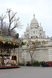 Cattedrale di Sacre Coeur a Parigi Fotografie Stock Libere da Diritti