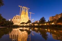 Cattedrale di Sagrada Familia, Barcellona Spagna Fotografia Stock Libera da Diritti