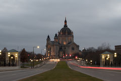 Cattedrale di Saint Paul a penombra Fotografia Stock