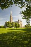 Cattedrale di Salisbury Fotografie Stock