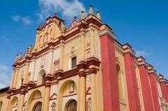 Cattedrale di San Cristobal de Las Casas, il Chiapas, Messico fotografia stock