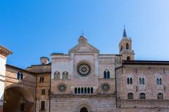 Cattedrale di San Feliciano i Foligno Arkivfoto
