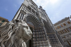 Cattedrale di san Lorenzo. Genoa in Italy, Europe Royalty Free Stock Photography