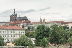 Cattedrale di San Vito e castello, Praga, repubblica Ceca Fotografie Stock Libere da Diritti