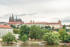 Cattedrale di San Vito e castello, Praga, repubblica Ceca Immagine Stock