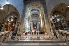 Cattedrale di San Zeno Interior - Pistoia Italia fotografia stock libera da diritti