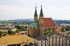 Cattedrale di Sankt Moritz in Kromeriz, repubblica Ceca fotografia stock libera da diritti