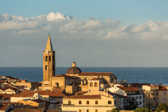 Cattedrale di Santa Maria in Alghero, Sardinia Stock Images