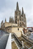 Cattedrale di Santa Maria, Burgos, mancha della La di Castill, Spagna. Fotografia Stock Libera da Diritti