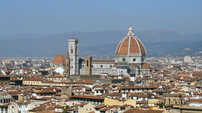 The Cattedrale di Santa Maria del Fiore Cathedral of Saint Mary of the Flower the main church of Florence. View from Piazzale Michelangelo balcony, Florence Royalty Free Stock Image