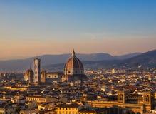 Cattedrale di Santa Maria del Fiore Firenze Fotografia Stock Libera da Diritti