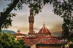 Cattedrale di Santa Maria del fiore i florence, Italien Arkivbild