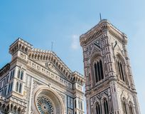 Cattedrale di Santa Maria del Fiore is the main church of Florence, Italy. Il Duomo di Firenze, as it is ordinarily called, was begun in 1296 in the Gothic Royalty Free Stock Photo