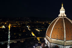 Cattedrale di Santa Maria del Fiore at night Royalty Free Stock Photography