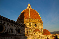 Cattedrale di Santa Maria del Fiore at sunset Stock Image