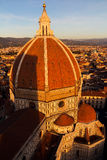 Cattedrale di Santa Maria del Fiore at sunset Royalty Free Stock Image