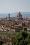 Cattedrale-Di Santa Maria del Fiore van Piazzale Michelangelo Stock Foto