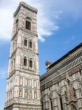 The Cattedrale di Santa Maria del Fiore. View to the famous bell tower campanile of the Cattedrale di Santa Maria del Fiore, Florence, Italy Royalty Free Stock Photography