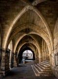 Cattedrale di Santander, arché del portico principale Fotografia Stock Libera da Diritti