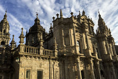 Cattedrale di Santiago de Compostela in Galizia, Spagna fotografia stock libera da diritti