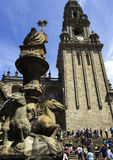 Cattedrale di Santiago de Compostela in Galizia, Spagna immagine stock libera da diritti