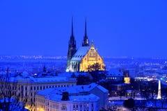 Cattedrale di sera Fotografia Stock