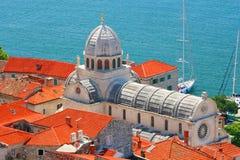 Cattedrale di Sibenik Fotografia Stock