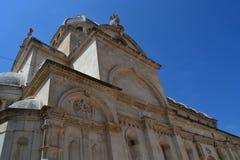 Cattedrale di Sibenik, Croatia della cattedrale Immagine Stock Libera da Diritti