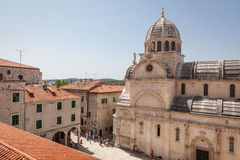 Cattedrale di St James in Sibenik Immagine Stock Libera da Diritti