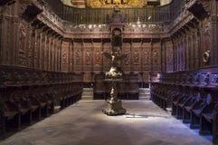 Cattedrale di St John il battista del coro di Badajoz Fotografia Stock Libera da Diritti