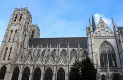 Cattedrale di St Michael e della st Gudula, Bruxelles, Belgio Fotografia Stock Libera da Diritti