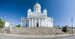 Cattedrale di St Peter e di Paul a Helsinki fotografia stock