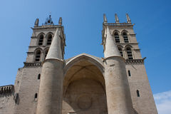 Cattedrale di St Peter a Montpellier Fotografie Stock Libere da Diritti