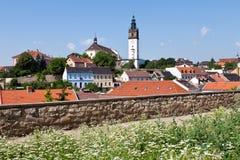 Cattedrale di St Stephen, Litomerice, Boemia, repubblica Ceca Immagini Stock