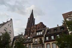 Cattedrale di Strasburgo, l'Alsazia, Francia Fotografia Stock