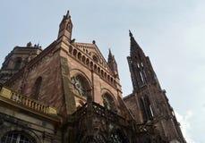 Cattedrale di Strasburgo, l'Alsazia, Francia Fotografie Stock Libere da Diritti