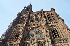 Cattedrale di Strasburgo, l'Alsazia, Francia Immagini Stock Libere da Diritti